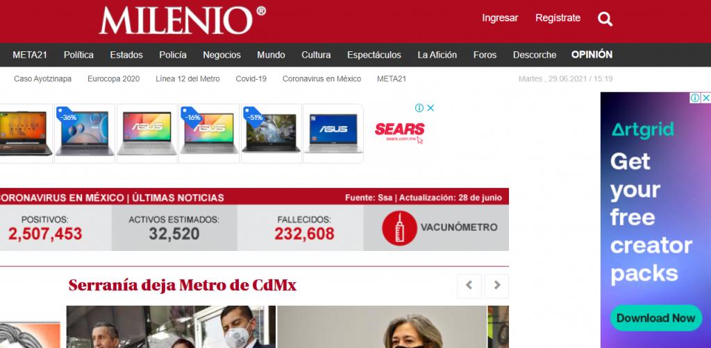 Ejemplo de imagen de Banner horizontal - Milenio