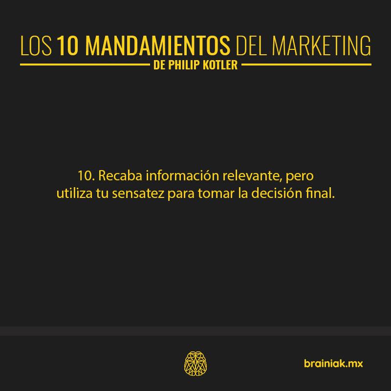 Los 10 mandamientos del marketing - Philip Kotler 10